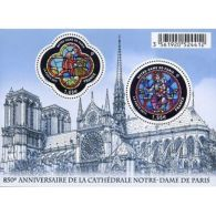 France Feuillet N°4714 850ème Anniversaire De La Cathédrale Notre-Dame De Paris - Blokken En Velletjes