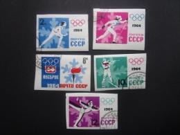 Russie. 1964. Yvert N° 2772 à 2776 Oblit. ND. Sport. JO D´hiver à Innbrück En Autriche. - 1923-1991 UdSSR