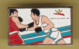 48759- Pin's..Jeux Olympiques.Barcelone.boxe. - Jeux Olympiques
