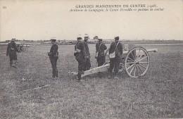 Militaria -  Série Grandes Manoeuvres Du Centre 1908 - Canon Rimaillo - Manoeuvres