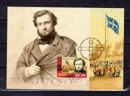 """AUSTRALIE 2004 : Carte Maximum Et PAP Neuf """" THE EUREKA FLAG / PETER LALOR """". Parfait état. CM - Flags"""