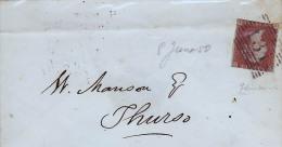 TIMBRE DET PETITE ENVELOPPE DE 1850 - Belgique