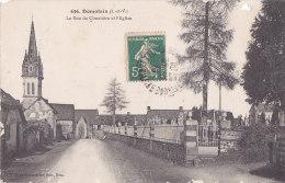 Ax - Cpa Domalain - La Rue Du Cimetière Et L'Eglise - France