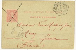 STORIA POSTALE - PORTOGALLO - PORTUGAL - ANNO 1899 - CARTE POSTALE - LISBOA - PER LOUIS MORET - FRANCE - H. NICOLAS - - Marcophilie