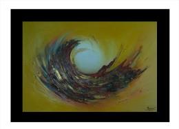 """Río De Janeiro"" Lizan, 40 Inches X 28,5 Inches, 2013 Oi And Acrylic On Canvas, Brazil - Acrylic Resins"
