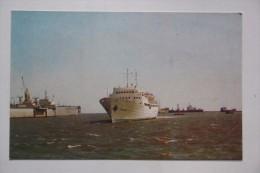 "Motor Ship ""Moldavia"" In Zhdanov (Mariupol) Port -  OLD Postcard  - Motorship - 1970s - Schiffe"