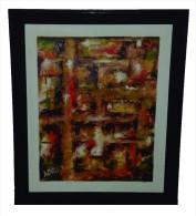 """Desesperación/despair""  Alberto Mallot, 23.5 Inches X 28 Inches, 2007, Oil On Canvas, Caribbean-EEUU - Olii"
