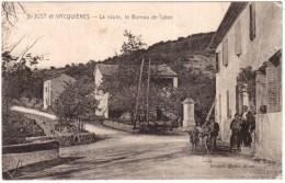 CARTE POSTALE ANCIENNE.St-JUST Et VACQUIERES (Gard).Le BUREAU De TABAC - France