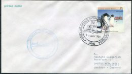 1989 AAT Australia Antarctic Penguin Davis Ship Cover - Covers & Documents