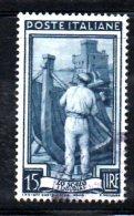 Y890 - REPUBBLICA 1955 , Lavoro 15 Lire Stelle II 25° Dx Usato - 6. 1946-.. Republik