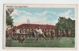 CPA Colorisée SOLDATS AMERICAINS - Baseball - The Army Game - Sammies - Guerre 1914-18 - 1914-18