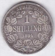 Afrique Du Sud. 1 SHILLING 1894 Z.A.R. PAUL KRUGER. Silver Coin - Afrique Du Sud