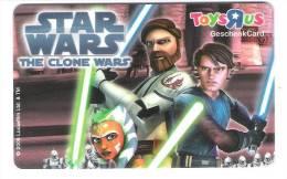 Germany - Allemagne - Toys R Us - Star Wars  The Clone Wars - Carte Cadeau - Carta Regalo - Gift Card - Geschenkkarte - Frankreich