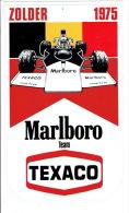 Sticker MARLBORO Team TEXACO - Formule I -  Grand Prix De ZOLDER 1975 - Automobile - F1