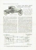 """4 Pages Reprinted From """"The Light Car And Cyclecar"""" June 11, 1921 - Voitures"""