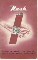 Brochure Dépliant Publicitaire De 1948 NASH Importateur AUTOMOBILES MIESSE BRUXELLES - Advertising