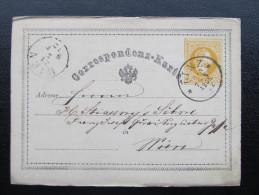 Korrespondenzkarte Linz - Wien  1872 /// D*19287 - 1850-1918 Imperium