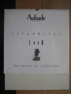 RARE (quasi Introuvable) & 1er CALENDRIER AUBADE 1998 - Photos érotiques - Lingerie - Calendriers