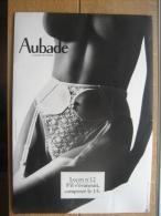 """Magnifique Publicité Cartonnée (39 X 27 Cm) AUBADE - Leçon N°12 """"S'il S'évanouit, Composer Le 15."""" - Plaques En Carton"""