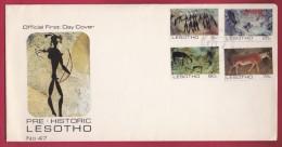 LESOTHO, 1983, Mint FDC, Pre-historic Lesotho, 419-422 , F955 - Lesotho (1966-...)