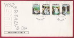 LESOTHO, 1978, Mint FDC Nr. 18, Waterfalls Of Lesotho, 256-259 , F959 - Lesotho (1966-...)