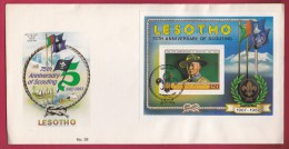 LESOTHO, 1982, Mint FDC Nr. 39, Block Scouting Baden Powell, 372 , F967 - Lesotho (1966-...)