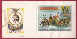 LESOTHO, 1982, Mint FDC Nr. 41, Block Washington, 392 , F969 - Lesotho (1966-...)