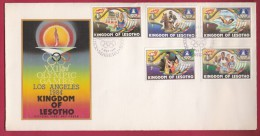 LESOTHO, 1984, Mint FDC , Olympic Games Los Angeles, 469-473 , F972 - Lesotho (1966-...)