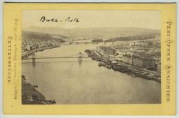 (Hongrie) CDV 1860-70. Vue Générale De Budapest. - Ancianas (antes De 1900)