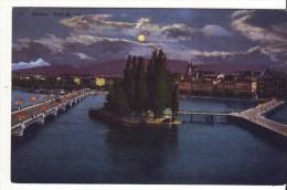 Cpa  Genève Effet De Nuit - GE Genève