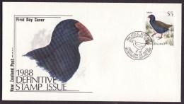 New Zealand #835 F-VF Unaddressed Cacheted FDC - $5 Bird (1988) - Birds