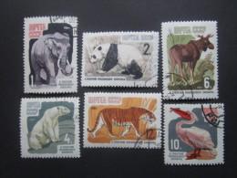 Russie. 1964. Yvert N° 2821 à 2826 Oblit. Faune Du Jardin Zoologique De Moscou. Animaux Divers. - 1923-1991 UdSSR