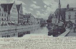 Souvenir De Gand - Quai Aux Herbes (animation, 1900) - Gent