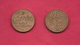 SWEDEN,  1935, Circulated Coin XF , 1 Ore,  Bronze, , KM552.2, C2043 - Sweden