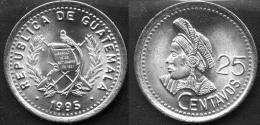 GUATEMALA    25  CENTAVOS   1.995   Cu-NI    KM#278.5      SC/UNC    DL-11.627 - Guatemala