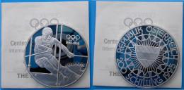 AUSTRIA 200 S 1995 ARGENTO PROOF SILVER THE SLALOM SKIER CENTENNIAL OLYMPIC COINS PESO 33,63g TITOLO 0,925 CONSERVAZIONE - Austria