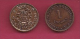 MOZAMBIQUE, 1963, 1 Escudo VF, KM 82, C2841 - Mozambique