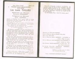 ROESELARE , Doodsprentje Van LEO LOUIS TAILLIEU ( OUD-SOLDAAT Van LEOPOLP II ) + 1951 - Religion & Esotericism