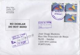 Ecuador Registered Cover To Portugal - Ecuador