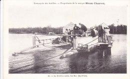 Cpa Commerce Marchand Compagnie Des Antilles Propriétaire De La Marque Rhum Chauvet La Rivière Salée Le Bac 41 - Mercaderes