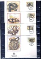 4 FDC Moldavie - Les Serpents (à Voir) - Serpents