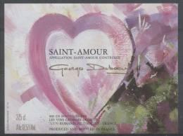 THEME DIVERS étiquette De Vin SAINT AMOUR / COEUR - Cuori