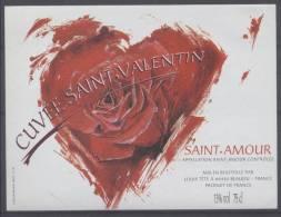 THEME DIVERS étiquette De Vin SAINT AMOUR / COEUR 2 - Cuori