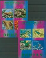 Bhutan 1969 Insekten Block 21/22 Postfrisch (C11558) - Bhutan