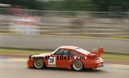 Reproduction D'une Photographie De La Porsche Numéro 36 Participant Aux 24 Heures Du Mans - Reproductions