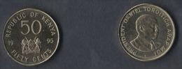 KENYA  50  CENTIMOS  1.995  KM#28  LATON-ACERO  SC/UNC   DL-11.630 - Kenia
