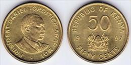 KENYA  50  CENTIMOS  1.997  KM#28  LATON-ACERO  SC/UNC   T-DL-11.631 - Kenia