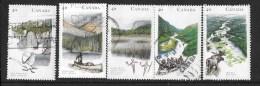 Canada. 1991, USED # 1321-5,  HERITAGE RIVERS   USED SET - 1952-.... Règne D'Elizabeth II