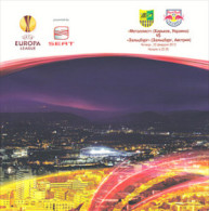Football Soccer. Programme Metalist - Salzburg 2011-2012 - Programs