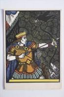 """Sun Freedomer"" - OLD USSR Postcard -1961  - ARCHERY - Archer - Raven - Rare! - Tir à L'Arc"